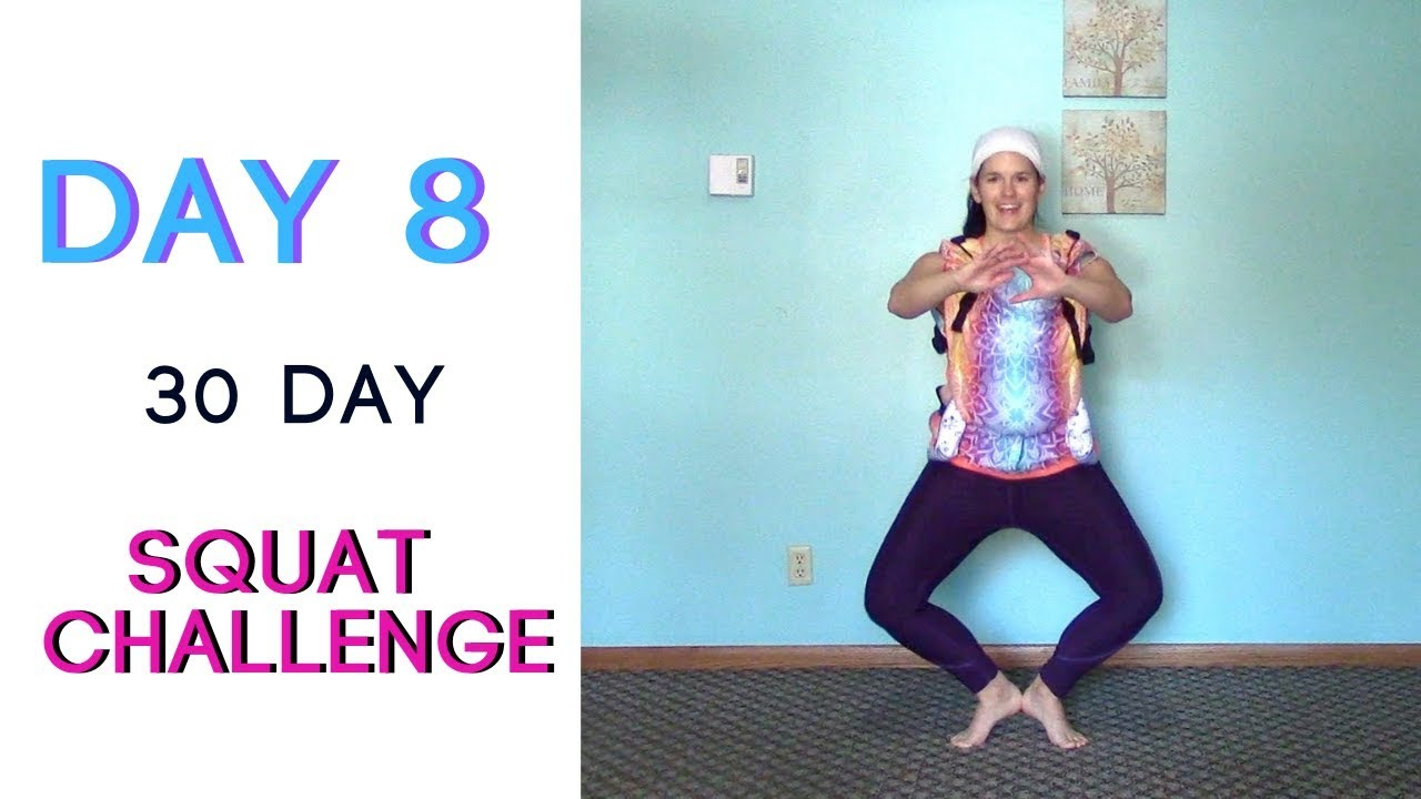 DAY 8   30 Day Squat Challenge 🍑  100 SQUATS Daily   Babywearing Workout    Fitness for Mamas