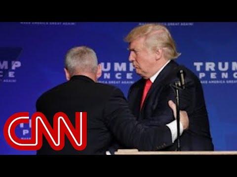Donald Trump rushed