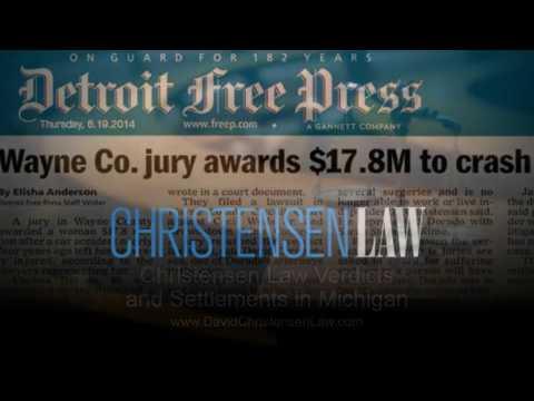 Christensen Law Verdicts and Settlements in Michigan | DavidChristensenLaw.com