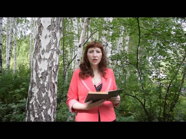 Изображение предпросмотра прочтения – МаринаМедянцева читает произведение «Берёза» С.А.Есенина