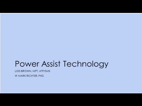 ISS 2015: IC36 - Power Assist Technology - Brown, Ricther