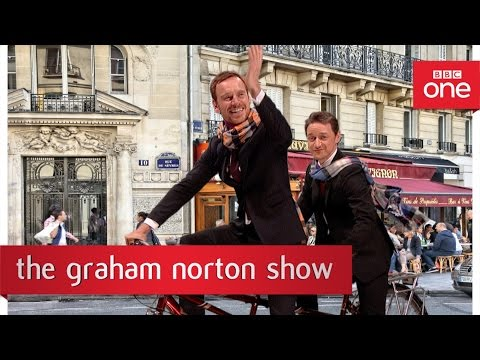 Michael Fassbender and James McAvoy create fan art - The Graham Norton Show 2016: New Years Eve