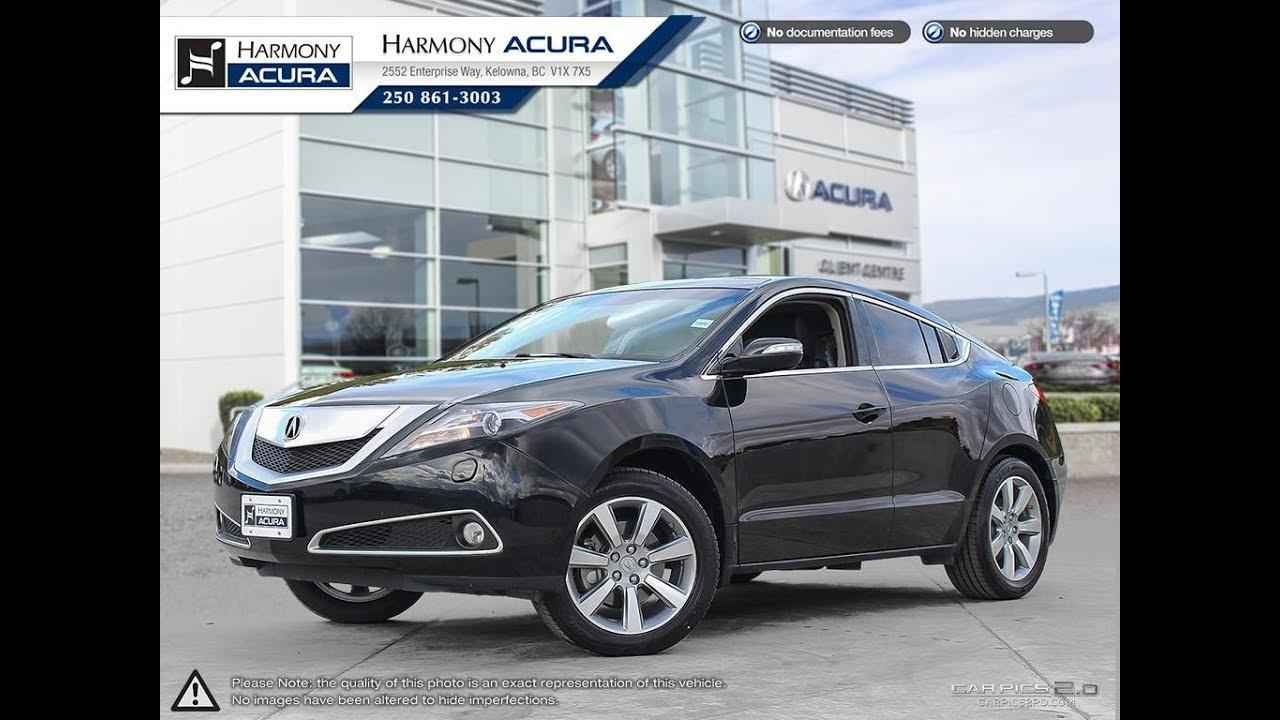 Acura ZDX Tech Pkg Harmony Acura Black AU Kelowna - Harmony acura