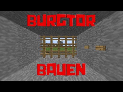 Minecraft Redstone Burgtor Bauen Tutorial