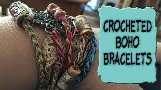 **Long Video** Crocheted Boho Bracelets Tutorial