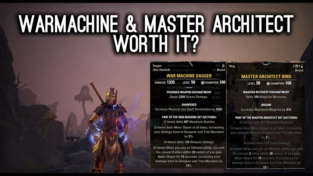 War Machine & Master Architect worth it? Morrowind ESO