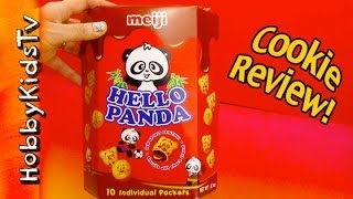 Hello Panda Meiji Brand Chocolate Cookie! Box Opening and Review HobbyKidsTV