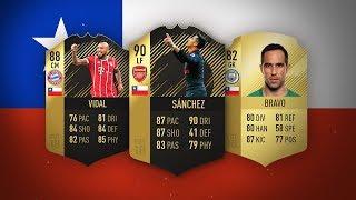 LA MEJOR PLANTILLA DE CHILE EN FIFA 18 !!!