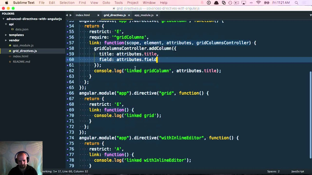 advanced directives with angular js youtube