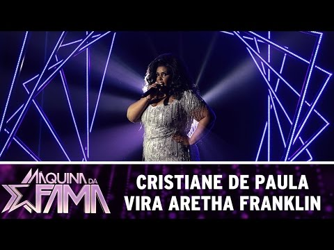 Máquina da Fama (09/05/16) Cristiane de Paula vira Aretha Franklin