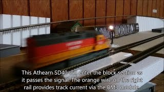 Main Layout - Automatic Block Signals & Train Control with Lenz Automatic Brake Control