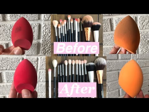 HOW TO CLEAN MAKEUP BRUSHES AND SPONGES | ALLY ELAINE