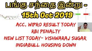 பங்கு சந்தை இன்று - 15th Oct 2019 ACC, Wipro Result  RBI Penalty  Tamil Share   Intraday Tamil Tips