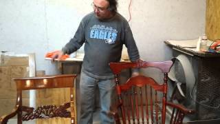 Refinishing Antique Maple Rocking Chairs At  Timeless Arts Refinishing