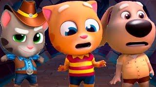 ТОМ ЗА ЗОЛОТОМ #42. МОЙ ГОВРЯЩИЙ КОТ ТОМ И АНДЖЕЛА - игра том бег за золотом видео для детей.