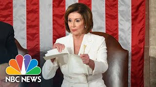 watch-nancy-pelosi-rip-up-copy-of-president-donald-trump-s-state-of-the-union-speech-nbc-news