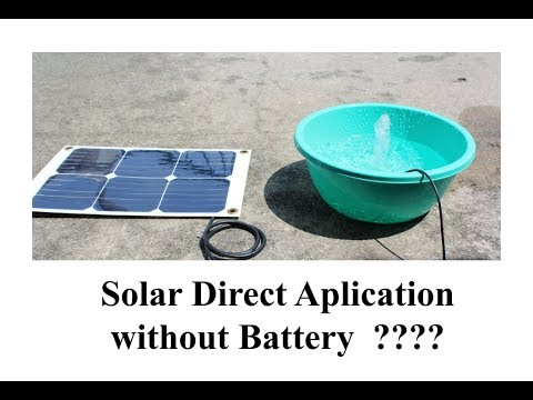 12V Solar Direct Application (Without Battery & Trickle Charge)