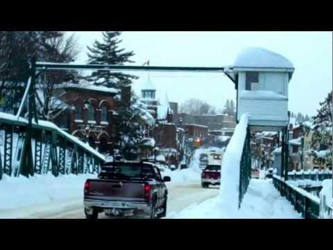 Snow Blizzard Flip HD Camera Huntsville Ontario SnowSquall December 5 2009 Muskoka Canada