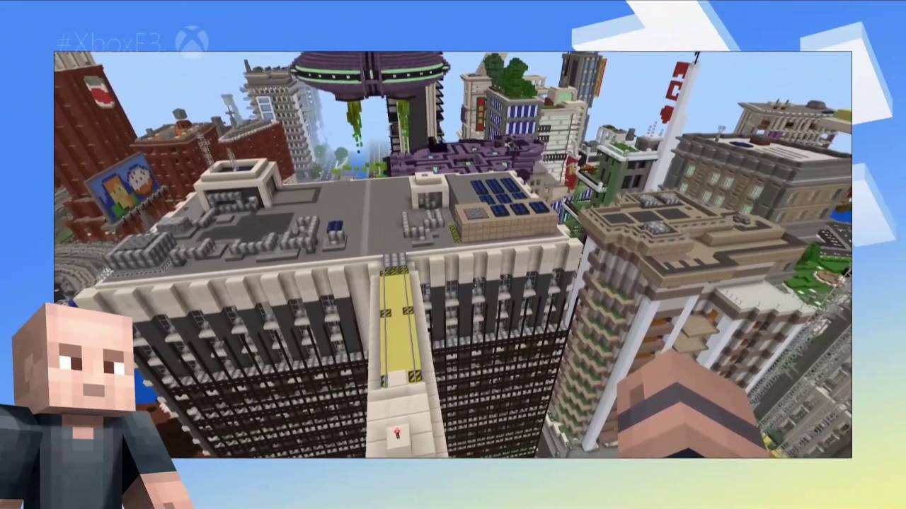 Minecraft Realms Reveal and VR Gameplay Demo E11 11 Xbox Conference