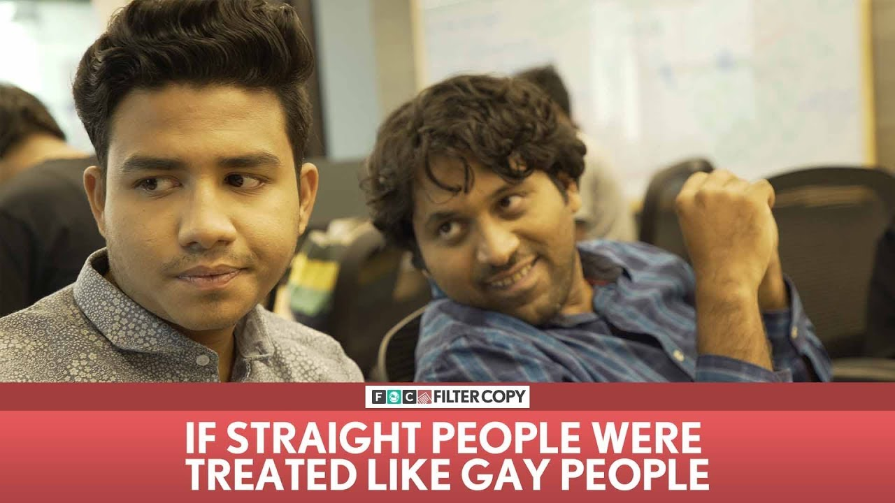 straight people and gay people