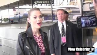 Jaime King Talks to the Paparazzi at LAX Airport