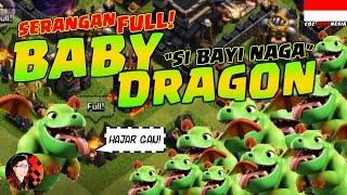 vuclip SERANGAN FULL BABY DRAGON - Clash of Clans Indonesia