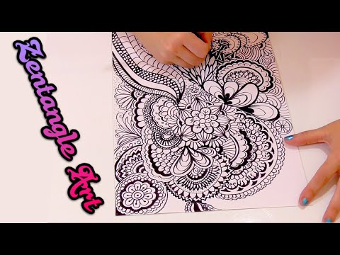 What is zentangle art how do doodle art speed drawing