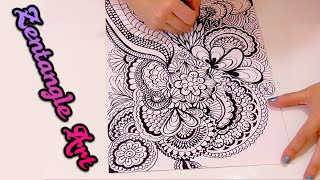 What is zentangle art? how do doodle art, speed drawing | Isa ❤️