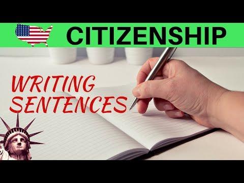 US CITIZENSHIP TEST: PRACTICE WRITING SENTENCES