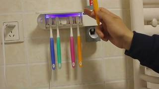 3 in 1 Antibacterial Automatic Toothpaste Dispenser Squeezers Toothbrush Ultraviolet Sterilizer