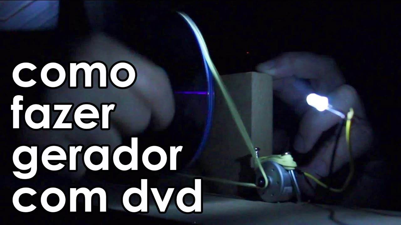 1eb4c363944 COMO FAZER UM GERADOR (de verdade) com um DVD player (EXPERIÊNCIA ...