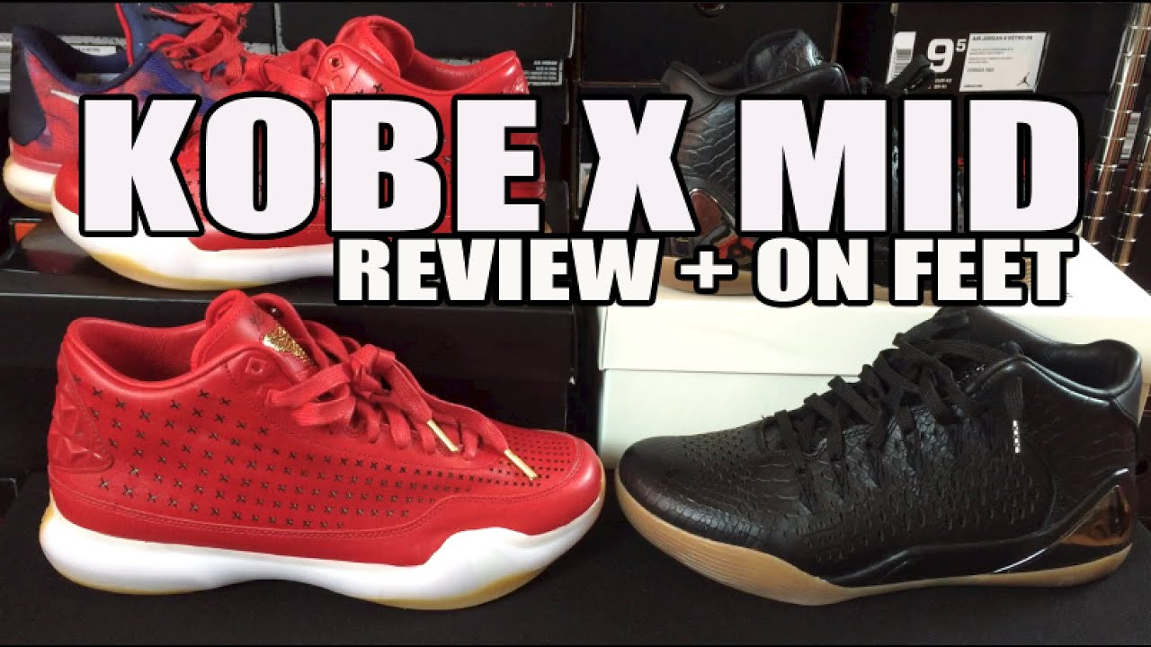 7ad525e349fc Nike Kobe 10 (X) EXT Mid Review + On Feet (Kobe 9 Mid Comparison ...