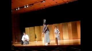 同志社大学寒梅館の葉月狂言会で『雁礫』(2012.8.12)
