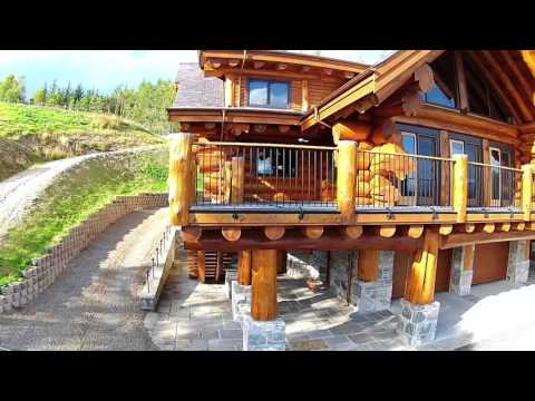 pioneer log homes of bc full log home youtube. Black Bedroom Furniture Sets. Home Design Ideas