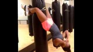 Sit ups on Punching Bag