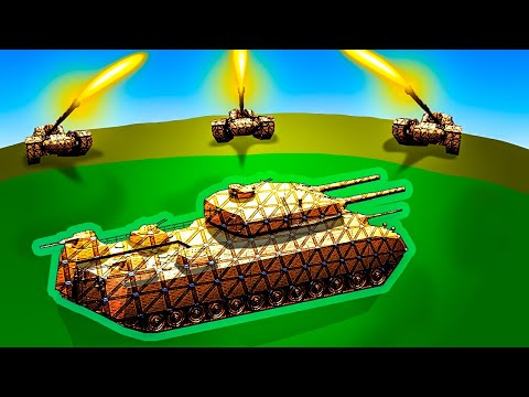 Can Anything Stop This SHIELDED SUPER TANK in Forts?! |
