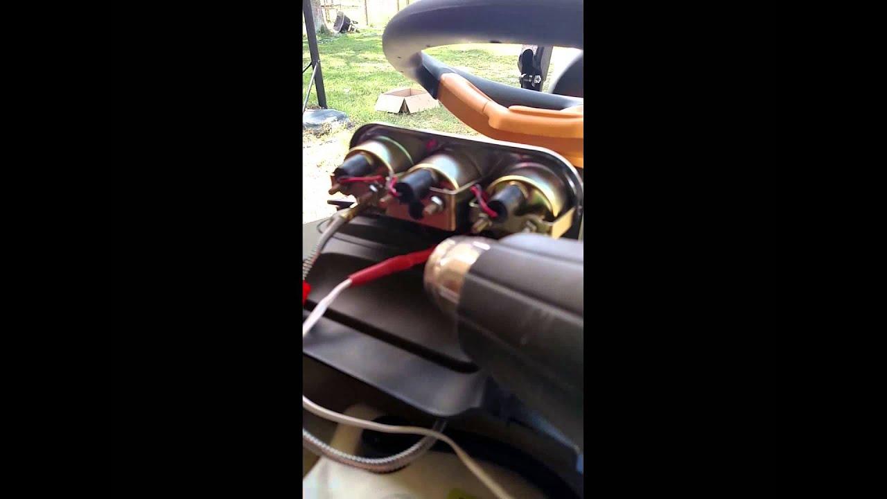 poulan 54 mower 24hp kohler sunpro cp8092 triple gauge. Black Bedroom Furniture Sets. Home Design Ideas