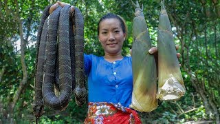Awesome Cooking Snake Soup with Bamboo Shoot Recipe