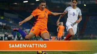 Highlights OranjeLeeuwinnen - Engeland (30/11/2016)