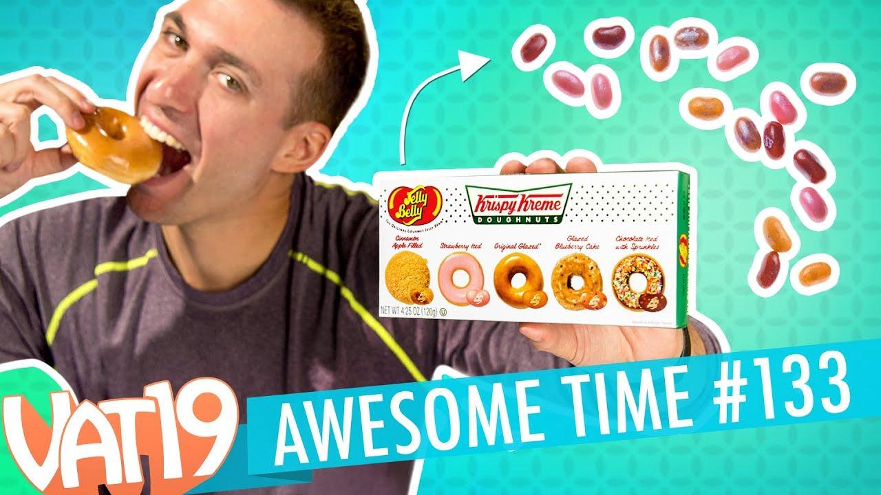 Eric's back! Krispy Kreme Jelly Beans, & Golden Gummy Challenge | A.T. #133