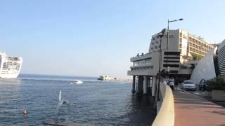 アキーラさん観察①モナコ公国・豪華客船出港,Monaco