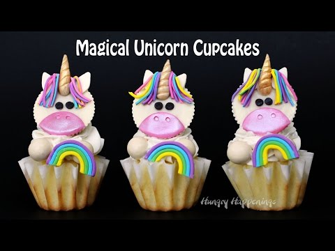 Magical Unicorn Cupcakes with Reese s Cup Unicorns
