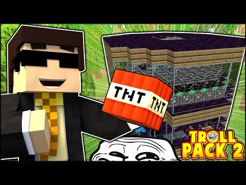GIVING VERNON'S HOUSE SOME TNT XDDD AND BLOWING IT UP! | TROLL PACK SEASON 2 #15 (Minecraft)