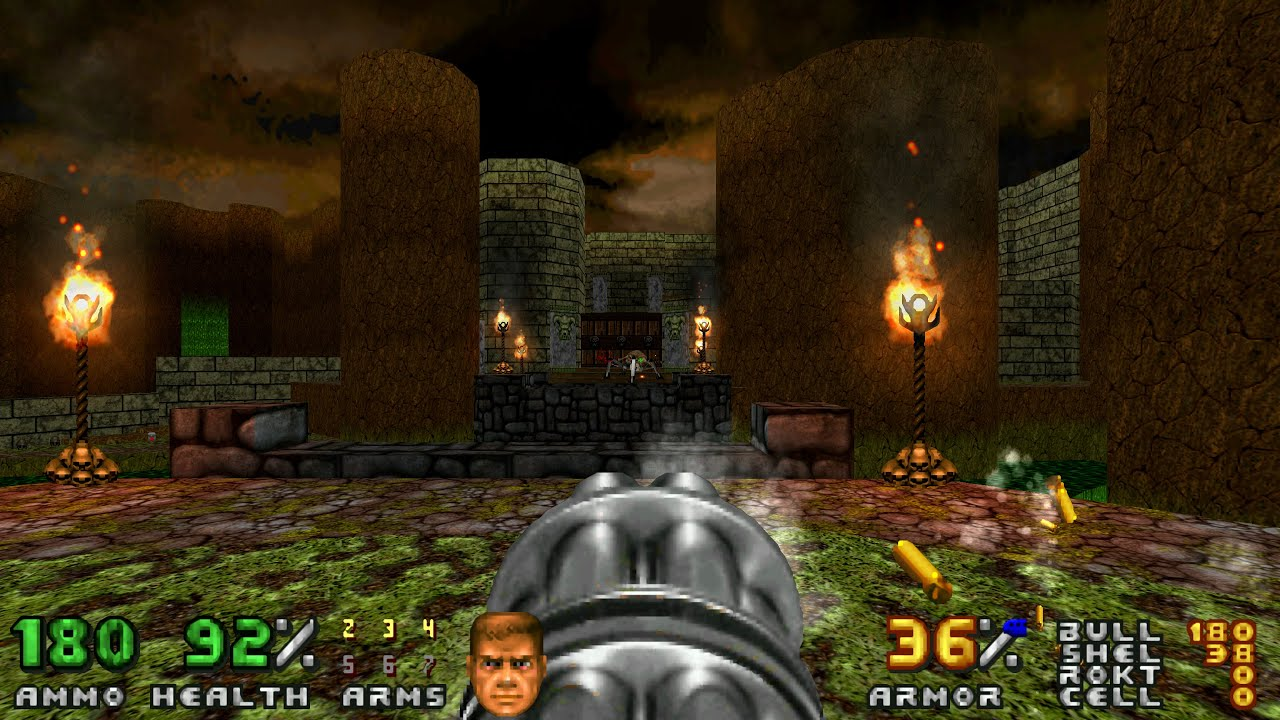 Lets Play Doom 2 No Rest For The Living At Uv Map03 Canyon
