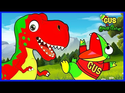 Learn Dinosaurs T-Rex And Help Baby Dino With Gus The Gummy Gator!!!