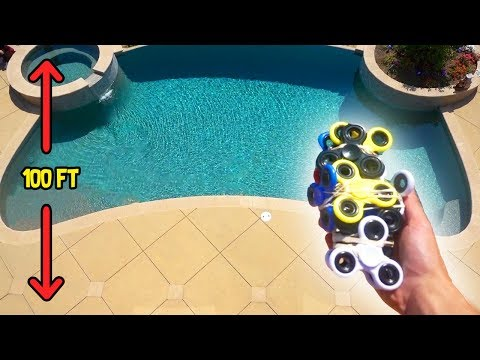 CAN FIDGET SPINNERS PROTECT MY IPHONE FROM 100FT DROP?! | FaZe Rug