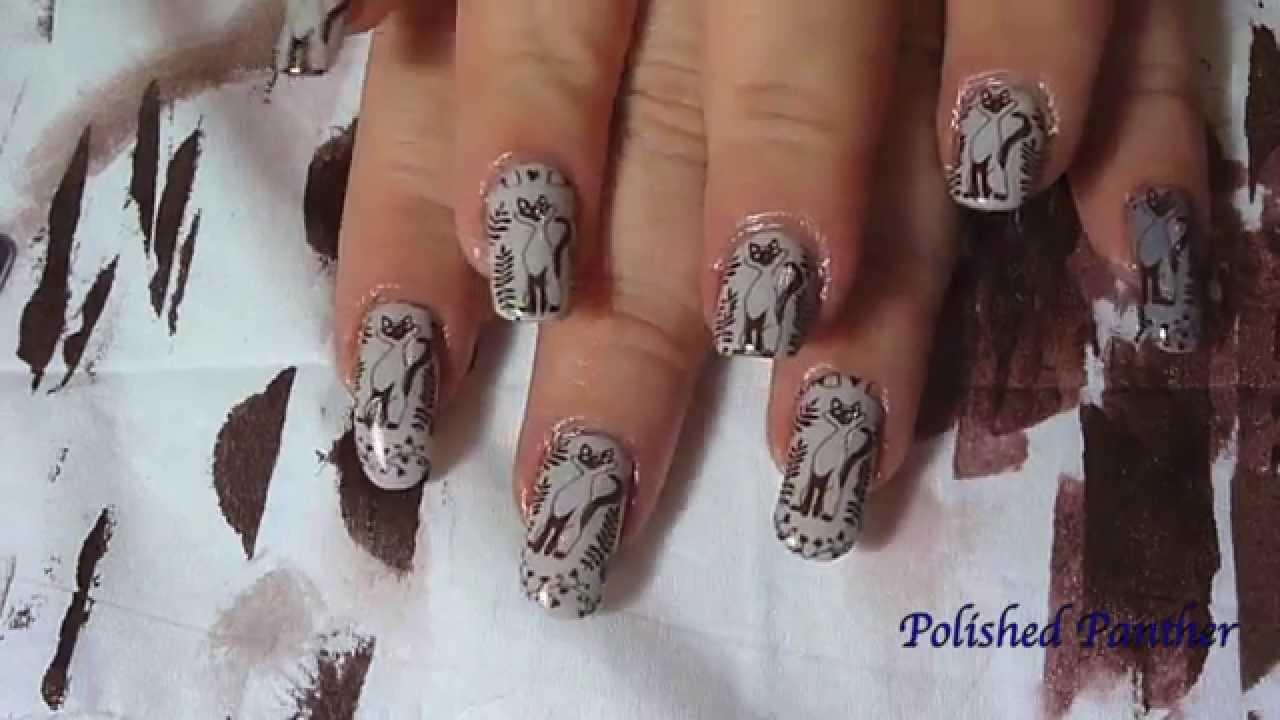 Moyou enchanted stamping nail art plate 14 swatches and siamese moyou enchanted stamping nail art plate 14 swatches and siamese cat inspired manicure youtube prinsesfo Choice Image