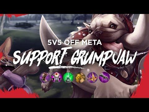 Vainglory 5v5 Off Meta - Support Grumpjaw (Update 3.0.3)
