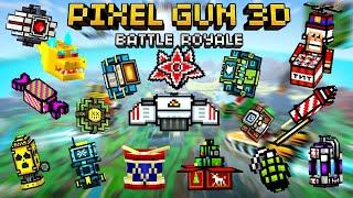 Pixel Gun 3D USING ALL GADGETS Battle Royale! Wins & Epic Fails!