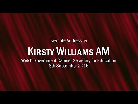 Kirsty Williams AM Cabinet Secretary for Education Keynote